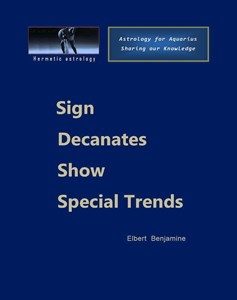 Sign decanates show special trends
